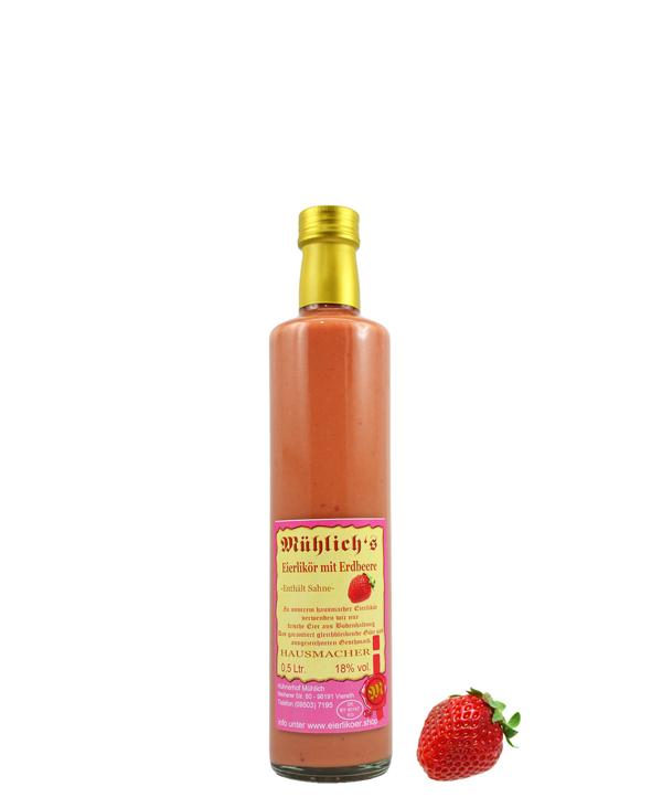 Eierlikör mit Erdbeere